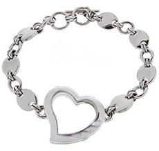 Heart Bracelet with Italian Style Chain